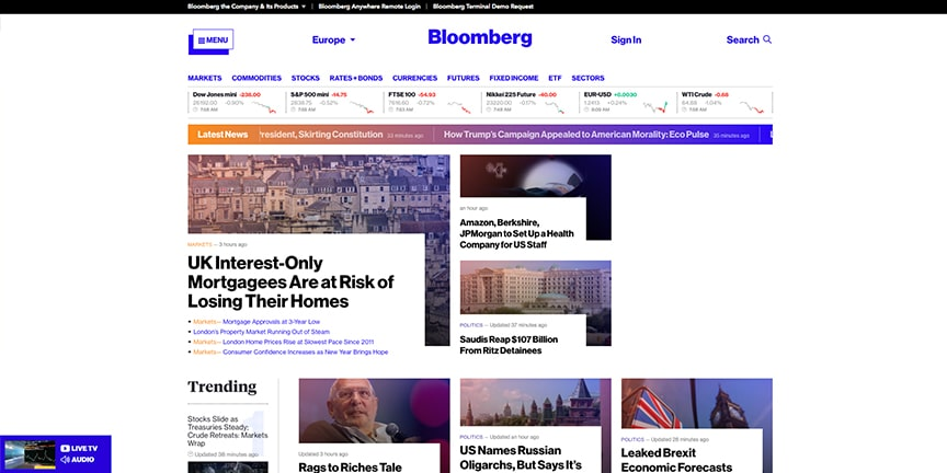 Bloomberg site 2017