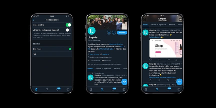 tendances webdesign dark mode